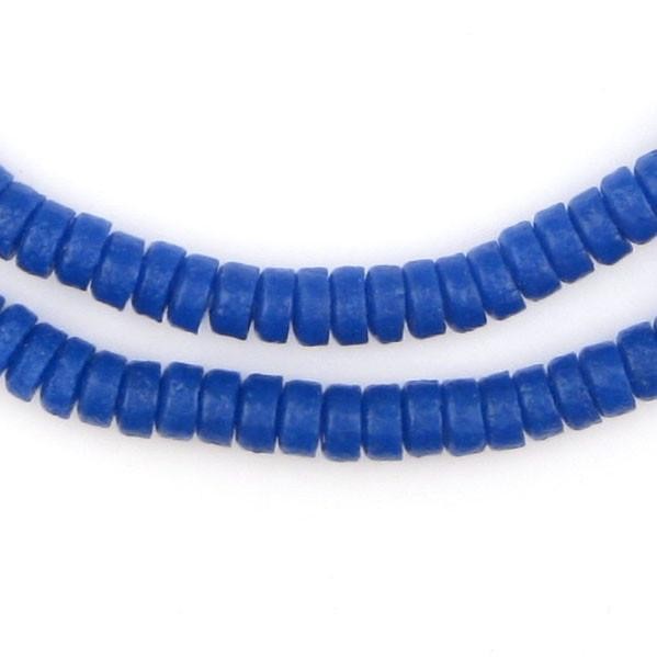 Cobalt Blue Mini-Disk Sandcast Beads - The Bead Chest