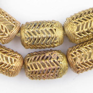 Wave Cylinder Brass Filigree Beads (20mm) - The Bead Chest