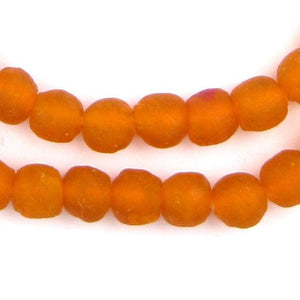 Papaya Orange Recycled Glass Beads (11mm) - The Bead Chest