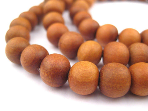 Natural Sandalwood Mala Beads (10mm) - The Bead Chest