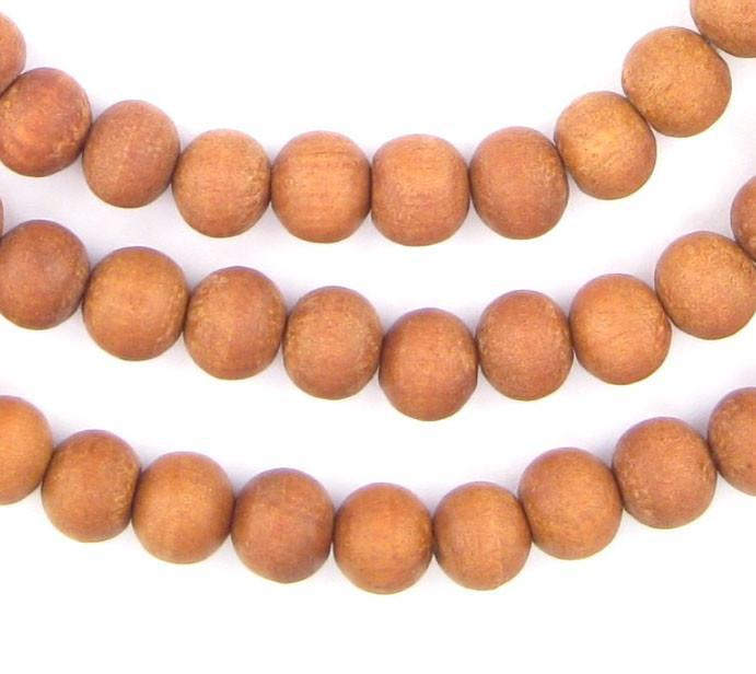 Natural Sandalwood Mala Beads (7mm) - The Bead Chest
