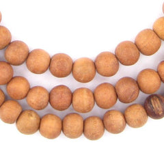 Natural Sandalwood Mala Beads (6mm)