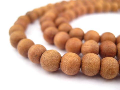 Natural Sandalwood Mala Beads (6mm) - The Bead Chest