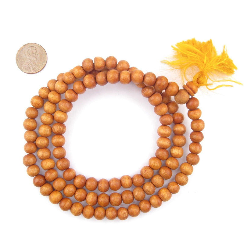 Lacquered Sandalwood Mala Beads (8mm) - The Bead Chest