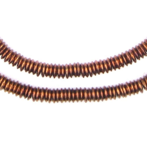 Antiqued Copper Extra Large Heishi Beads (6mm) - The Bead Chest