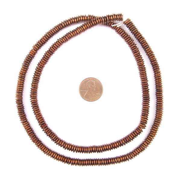 Antiqued Copper Extra Large Heishi Beads (6mm)