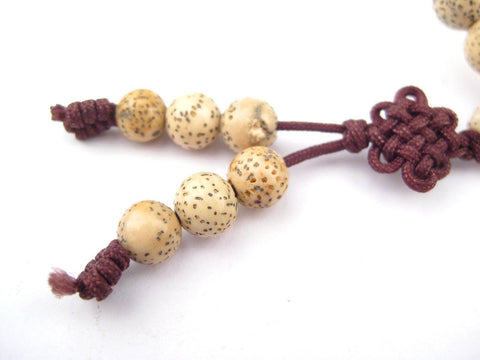 Natural Tibetan Lotus Seed Mala Beads (8mm) - The Bead Chest