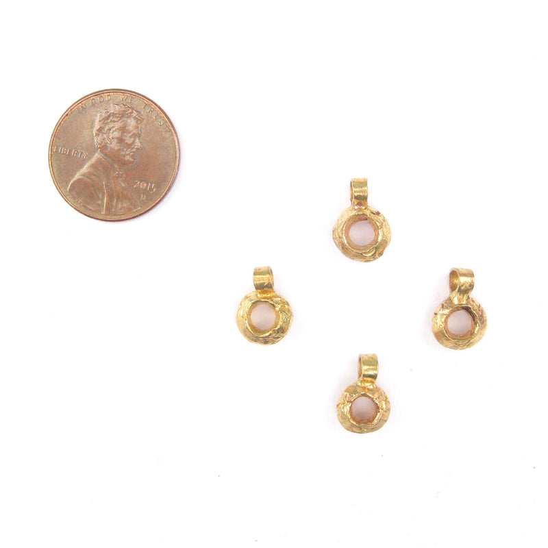 Brass Ethiopian Wollo Ring Ornaments (Set of 4) - The Bead Chest