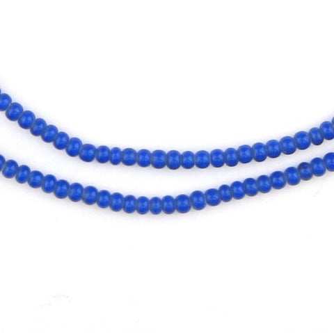 Image of Navy Blue White Heart Beads (3mm) - The Bead Chest