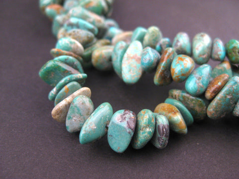 Turquoise Stone Chunk Beads - The Bead Chest