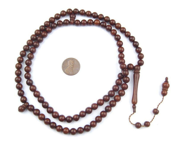 Brown Wood Arabian Prayer Beads (7mm)