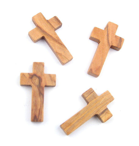 Olive Wood Cross Pendants (Set of 4) - The Bead Chest
