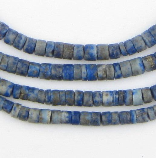 Cylindrical Heishi Lapis Lazuli Beads (5mm) - The Bead Chest
