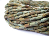 Faceted Green Turquoise Beads