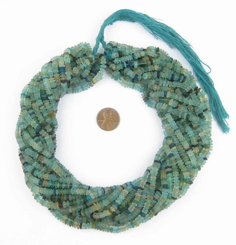 Image of Roman Glass Saucer Heishi Beads (5mm) - The Bead Chest