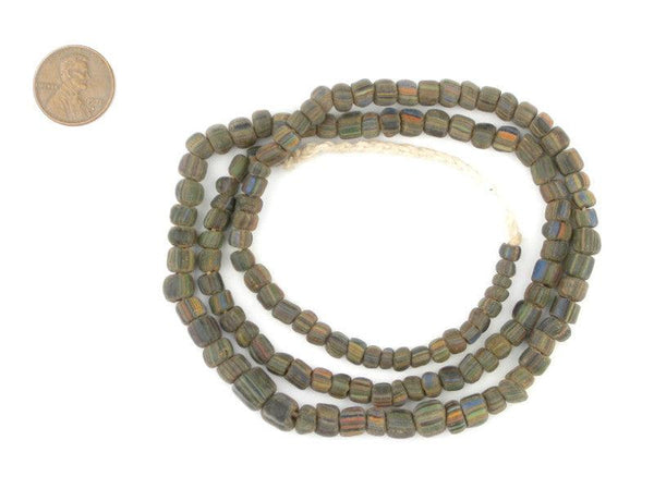 Ancient Stripe Java Gooseberry Beads - The Bead Chest