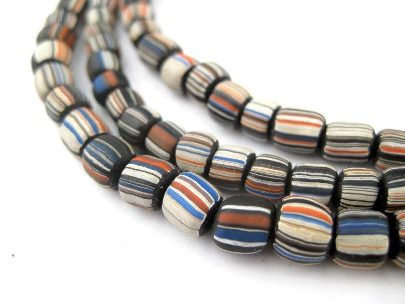 Black Stripe Java Gooseberry Beads - The Bead Chest