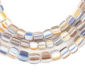 Pastel Stripe Java Gooseberry Beads - The Bead Chest