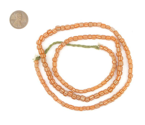 Tangerine Orange Java Gooseberry Beads - The Bead Chest