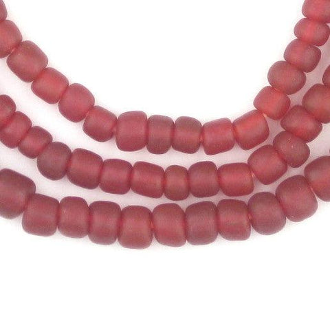 Maroon Java Glass Beads - The Bead Chest