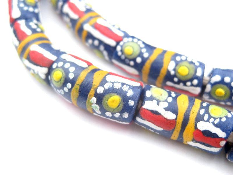 Sun Stripe Krobo Beads - The Bead Chest