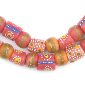 Rose Medley Krobo Beads - The Bead Chest