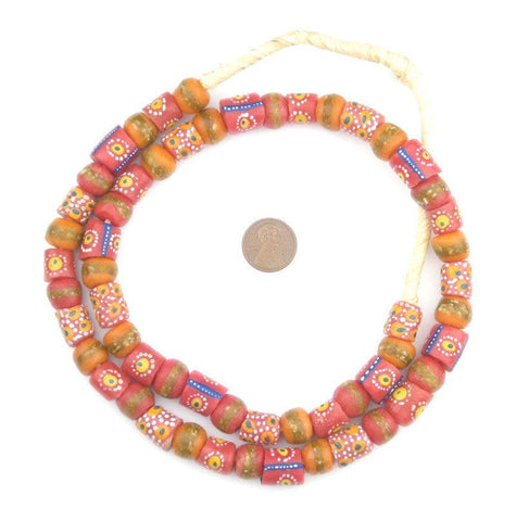 Image of Rose Medley Krobo Beads - The Bead Chest