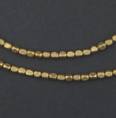 Brass Rounded Rectangle Beads (4x3mm) - The Bead Chest