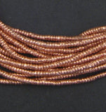Copper Heishi Ethiopian Beads (3mm)