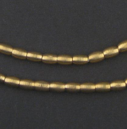Smooth Oval Brass Spacer Beads (7x5mm)