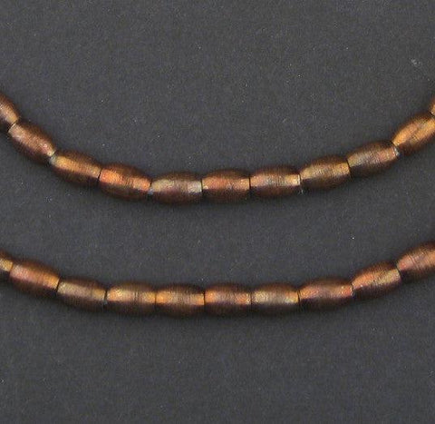 Antiqued Copper Oval Spacer Beads (7x5mm) - The Bead Chest