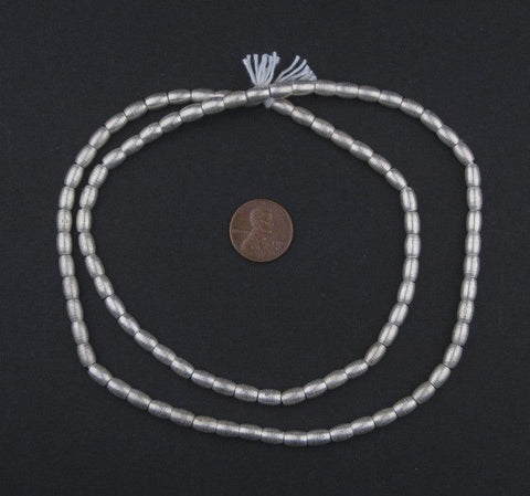 Smooth Oval Silver Spacer Beads (7x5mm) - The Bead Chest