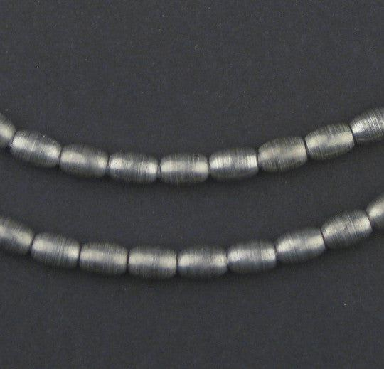 Smooth Oval Dark Silver Spacer Beads (7x5mm)