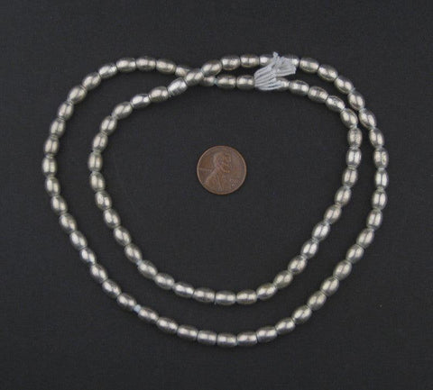 Smooth Oval Silver Spacer Beads (7x6mm) - The Bead Chest