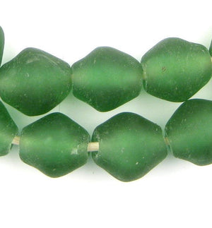 Light Green Recycled Glass Beads (25mm) - The Bead Chest