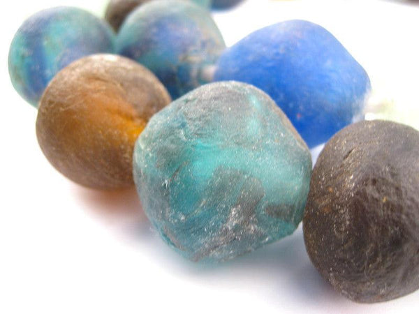 Mixed Recycled Glass Beads (34mm)