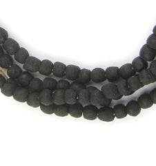 Black Recycled Glass Beads (7mm) - The Bead Chest