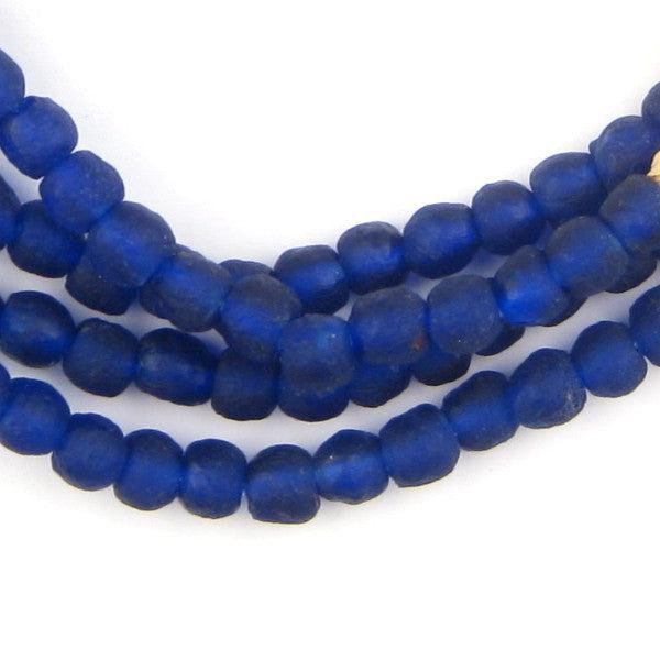Cobalt Recycled Glass Beads (7mm) - The Bead Chest