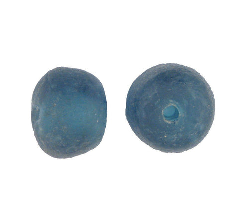 Image of Blue Jumbo 31mm Recycled Glass Beads (Set of 2) - The Bead Chest