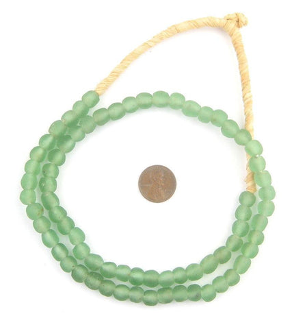 Light Green Recycled Glass Beads (9mm) - The Bead Chest