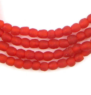 Red Recycled Glass Beads (7mm) - The Bead Chest