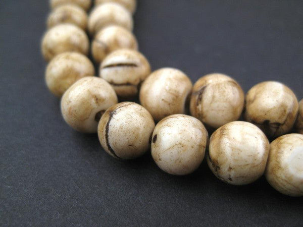 Vintage Spherical Shell Beads - Long Strand (8mm)