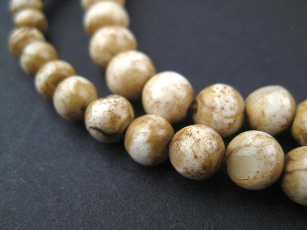 Vintage Spherical Shell Beads (6mm)