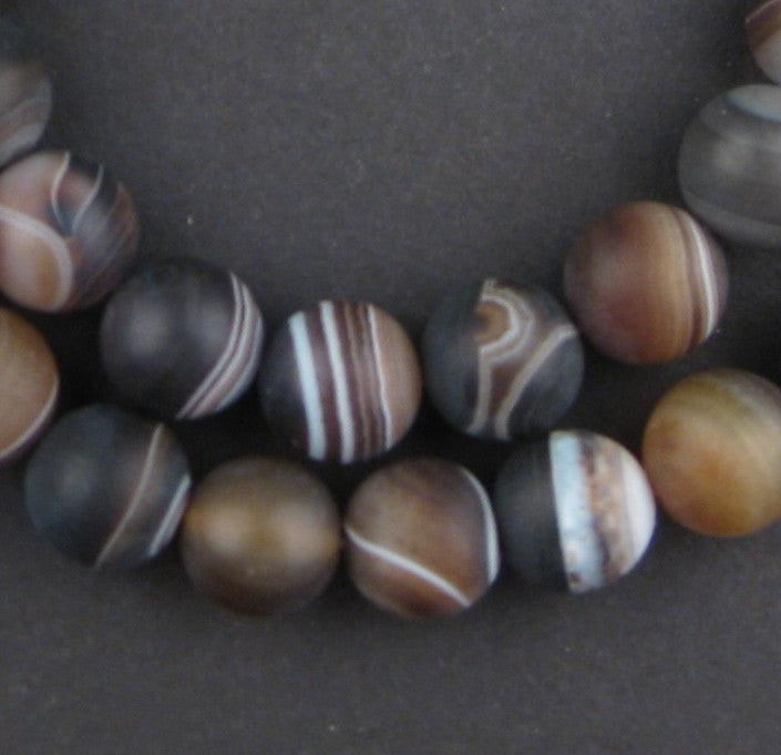 Round Natural Agate Stone Beads (10mm) - The Bead Chest