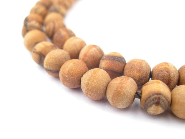 Round Olive Wood Beads from Bethlehem (7mm)