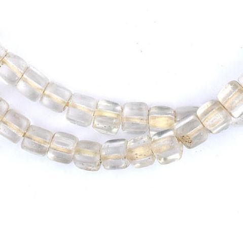 Old Abyssinian Glass Crystal Mini-Cube Beads (6mm) - The Bead Chest