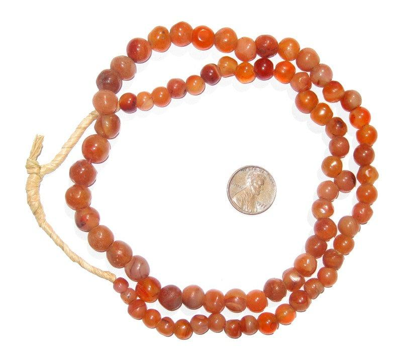 Round Mali Carnelian Beads - The Bead Chest