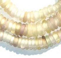Clear Old Annular Wound Dogon Beads (11mm) - The Bead Chest
