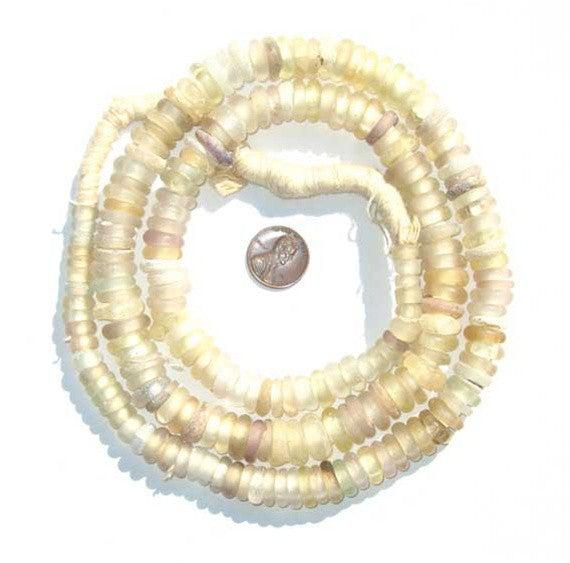 Clear Old Annular Wound Dogon Beads