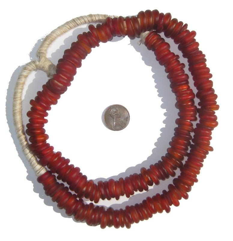Red Old Annular Wound Dogon Beads - The Bead Chest